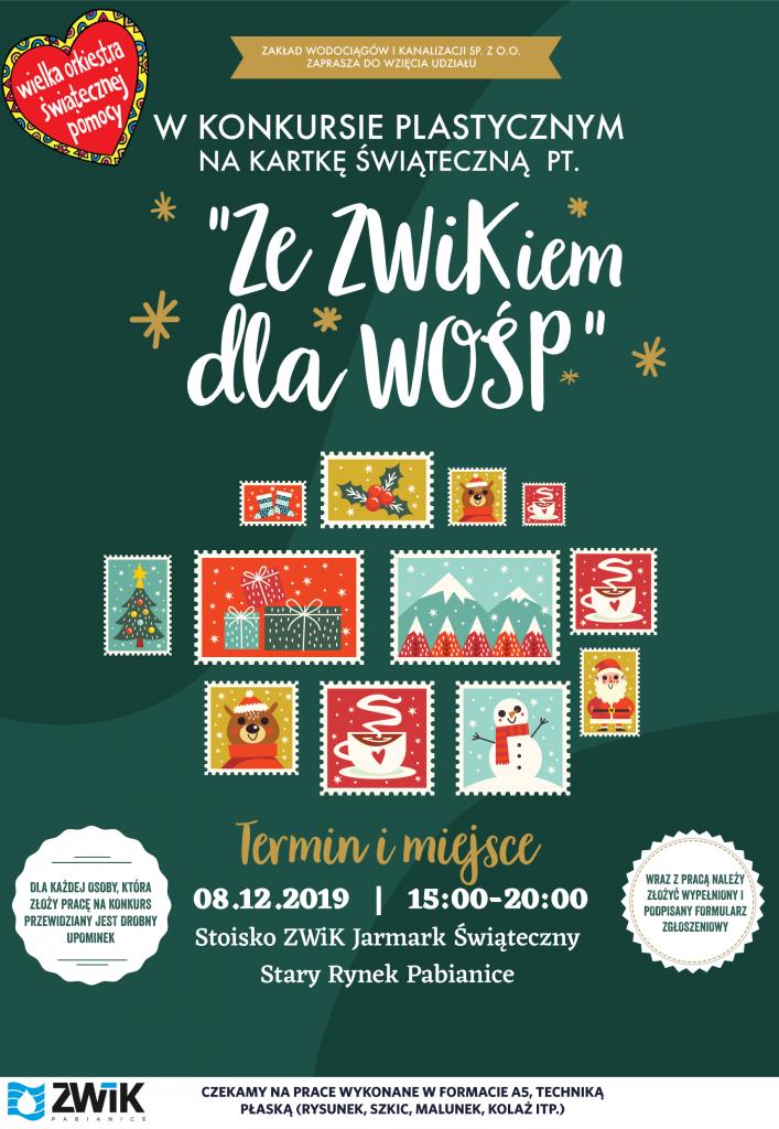 Plakat konkursu ze ZWiKiem dla WOŚP